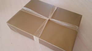 Gold large size gift box