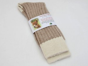 fawn-and-cream-bed-sock