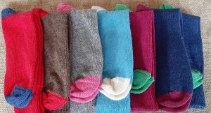 Range of colours available in Size 8-10 - Contrast everyday socks