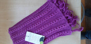 Lilac Pink Links scarf