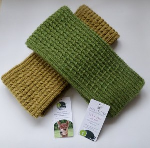 Moss Green & Mustard colours in our Twist scarf