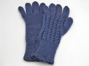 midnight blue cable glove