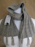 Silver Grey chain link scarf 100% alpaca from Yew Tree herd